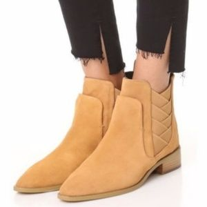 Rebecca Minkoff Butterscotch Chelsea Suede Boots